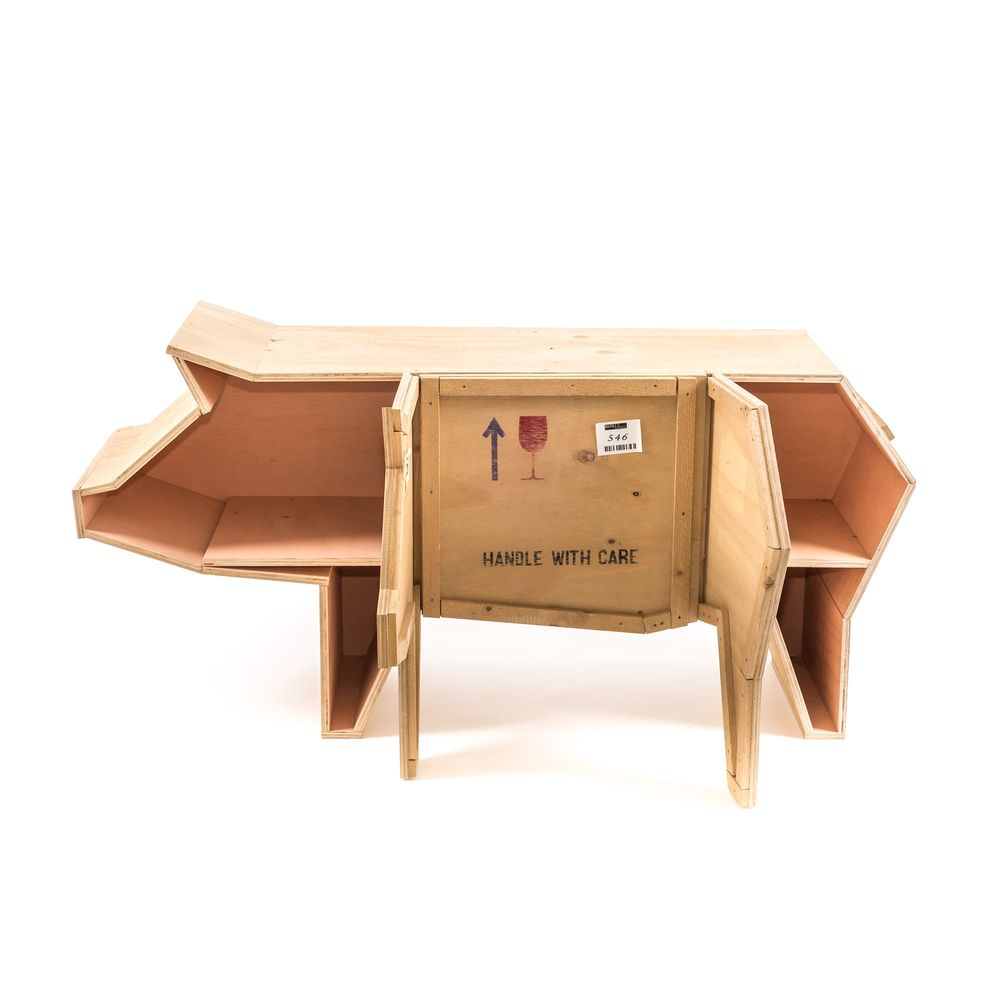 Seletti sending animals wooden furniture pig out of the dark for Seletti furniture