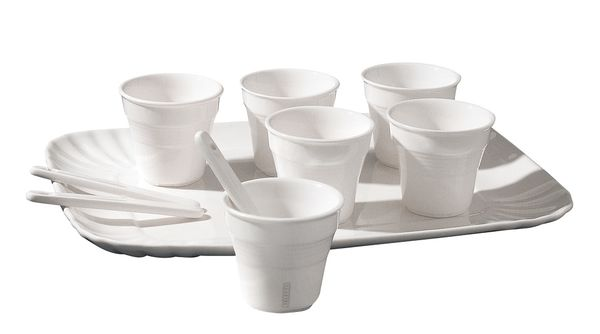 Seletti Estetico Quotidiano Coffee Set 6 Cups 6 Stirrers And 1 Tray