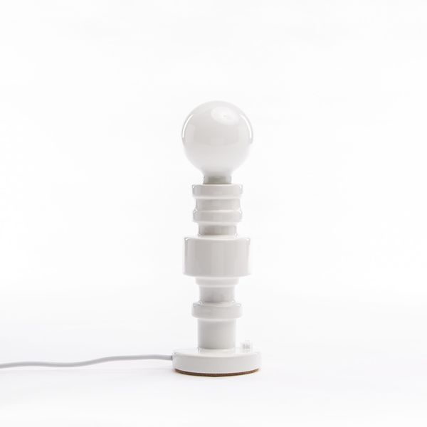 Seletti Turn Table Lamp In Porcelain