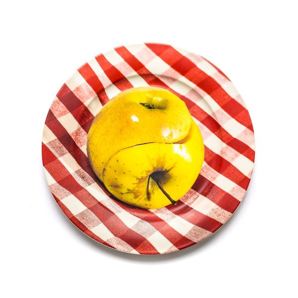 Seletti Toiletpaper Porcelain Plates Apple